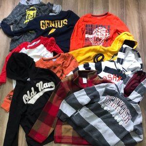 Boys size 6 clothing long sleeve shirt & hoody lot